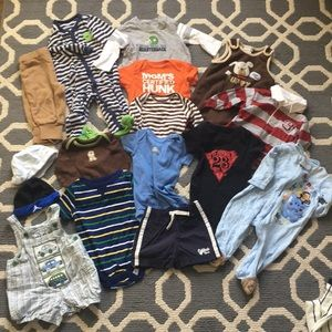 Large bundle of baby boys 3-6 months clothes